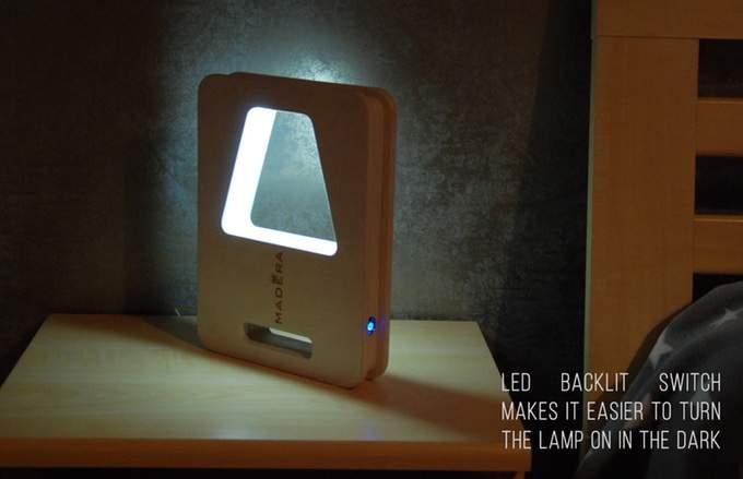 Настольная светодиодная лампа Madera 007 - фото включения