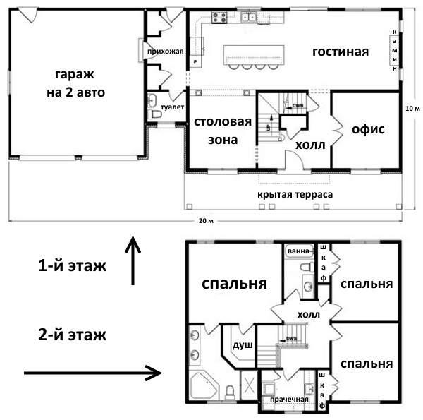 Второй этаж в частном доме с тремя спальнями и санузлом