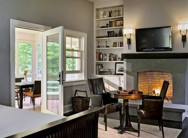 Двери межкомнатные одностворчатые распашные стеклянные - фото в доме