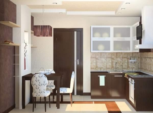 Деревянные распашные двери на кухню в современном стиле