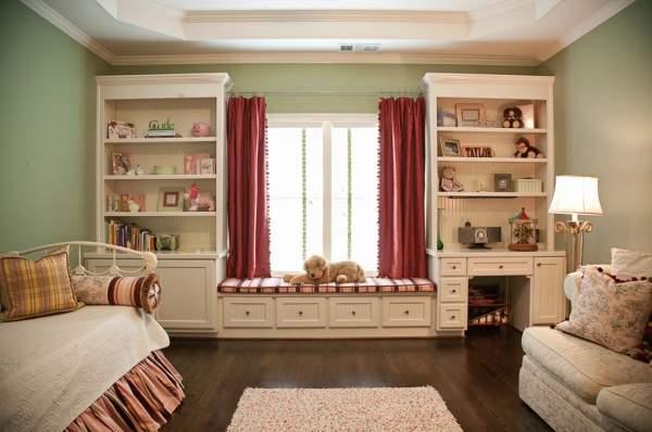 Лучшие цвета для детской комнаты - розовый и мятный зеленый