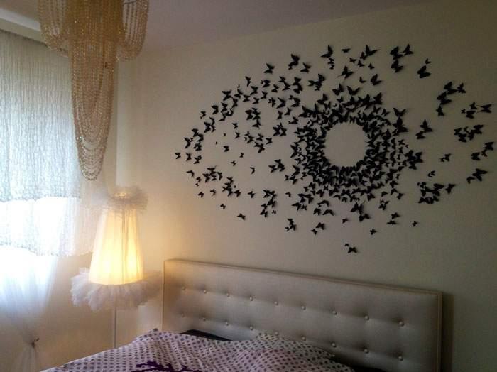 Декор стен бабочки своими руками фото 5