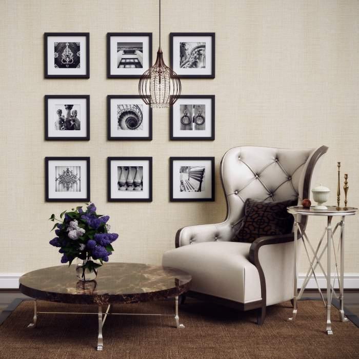 Декор стен своими руками с черно-белыми фотографиями