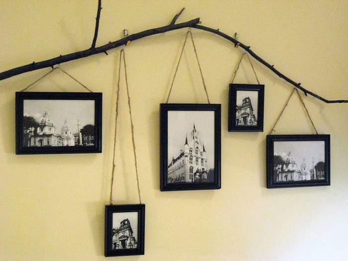Как украсить стену фотографиями в рамках
