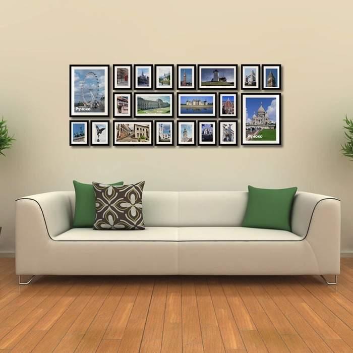 Как оформить картины в рамках на стене