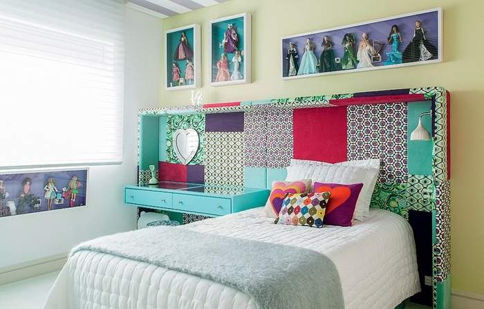 Пэчворк декор стен своими руками в детской комнате девочки
