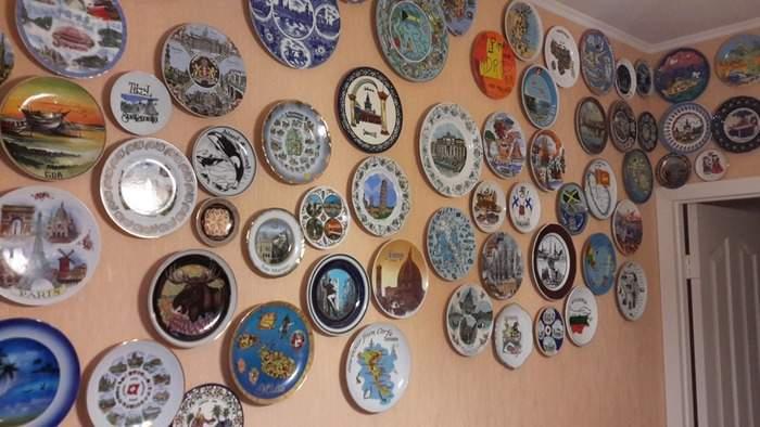 Декор стен своими руками - фото декоративных тарелочек