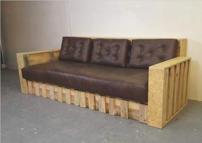 Кожаный диван своими руками в домашних условиях