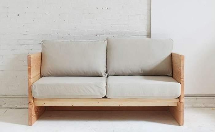 Небольшой деревянный диван своими руками в домашних условиях