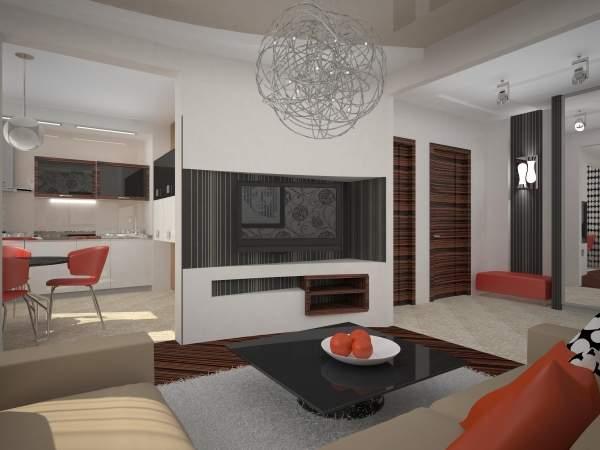 Дизайн панельной двухкомнатной квартиры в современном стиле