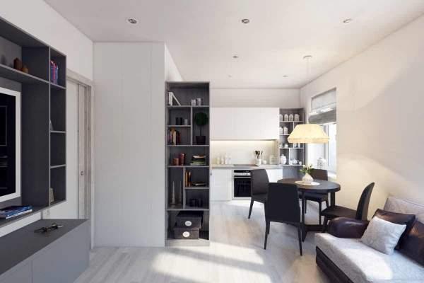 Дизайн двухкомнатной квартиры хрущевки в современном стиле