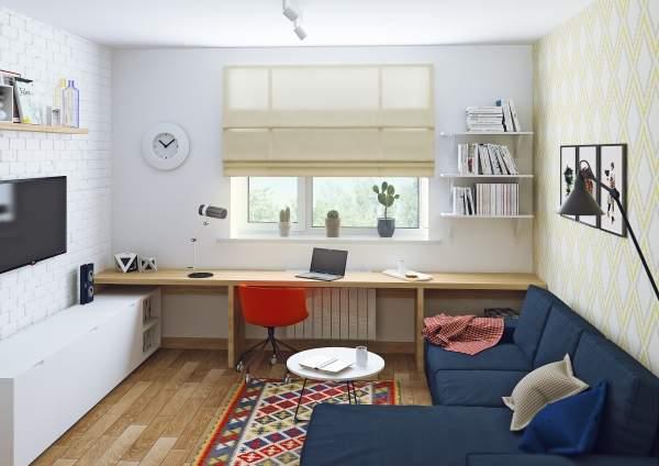 Скандинавский дизайн интерьера двухкомнатной квартиры - фото