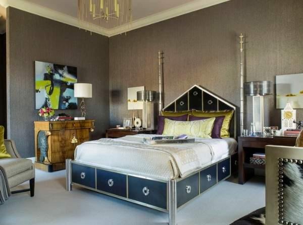Дизайн интерьера двухкомнатной квартиры - фото в стиле арт-деко
