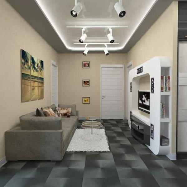 Современный дизайн двухкомнатной квартиры в стиле хай тек