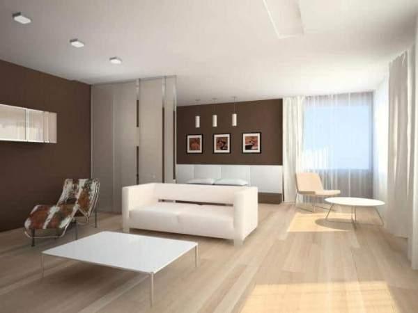 Современный дизайн двухкомнатной квартиры в стиле минимализм