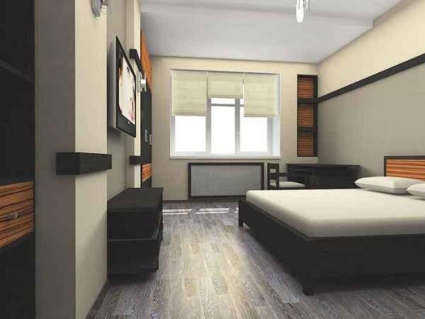 Дизайн спальни двухкомнатной квартиры в минималистском стиле