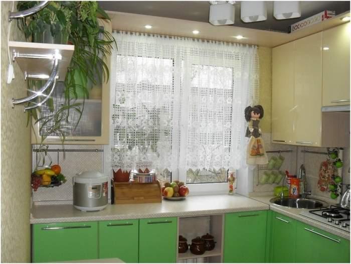 Дизайн 1 комнатной квартиры хрущевки - фото малогабаритной кухни