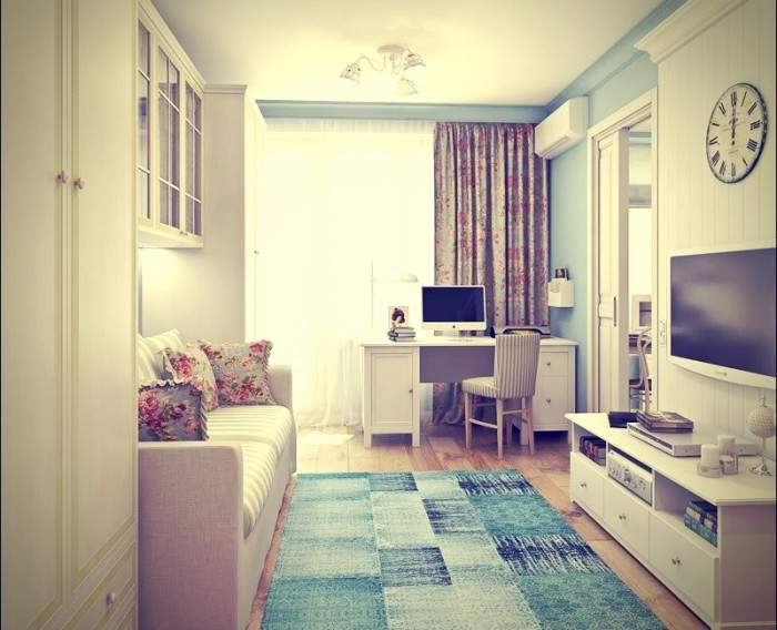 Красивый дизайн зала в 1 комнатной квартире хрущевке