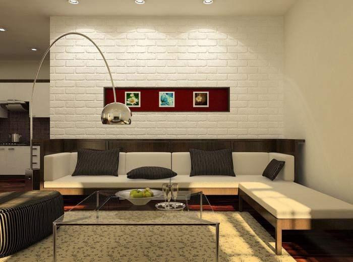 Дизайн интерьера однокомнатной квартиры в хрущевке в стиле минимализм