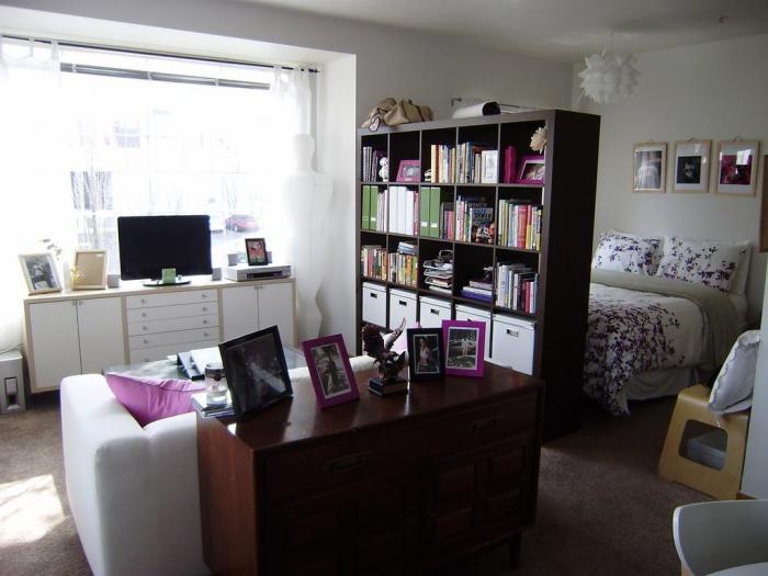 Дизайн интерьера однокомнатной квартиры хрущевки со спальным местом