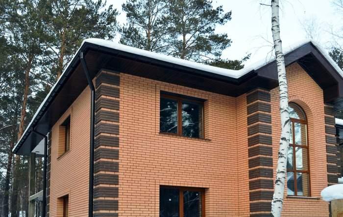 Отделка фасада частного дома - фото клинкерной плитки на стенах