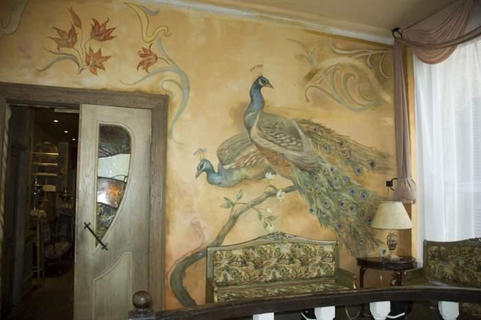 Декор стен своими руками - фото рисунков в интерьере