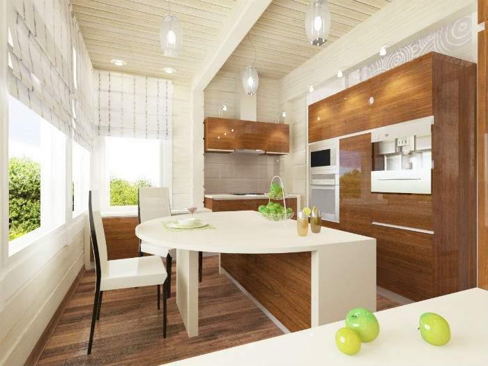 Как оформить интерьер частного дома - фото кухни