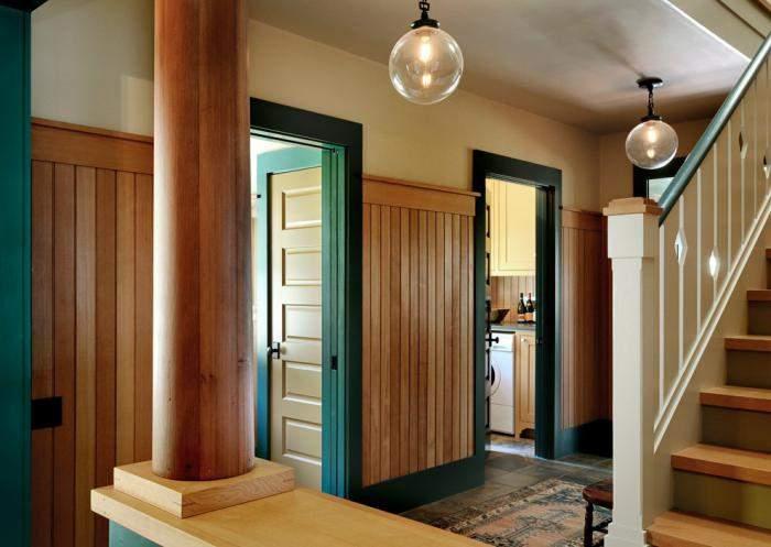 Уютный интерьер - дизайн прихожей в частном доме