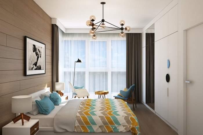 Панорамные окна в дизайне спальни - фото 2017