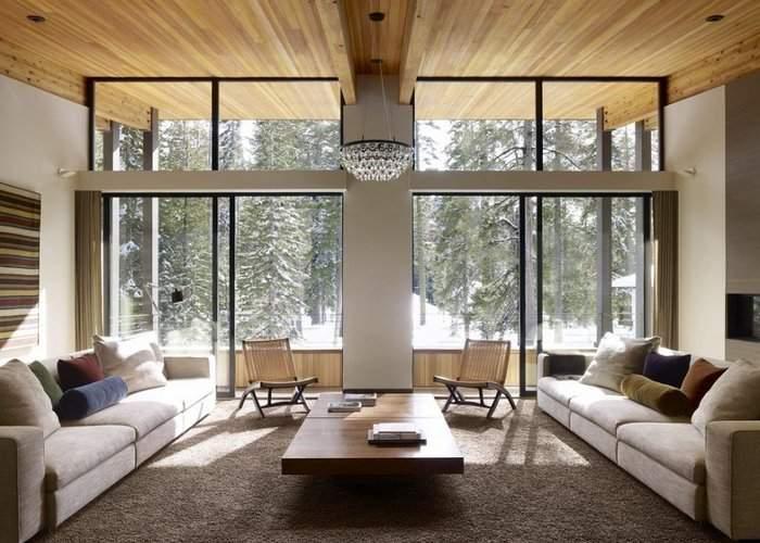 Панорамные окна - фото в дизайне частного дома