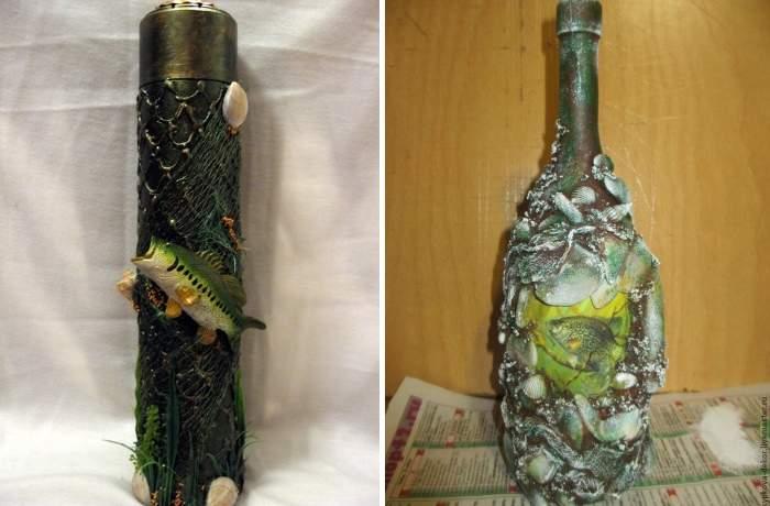 Декор бутылки для мужчины на 23-е февраля