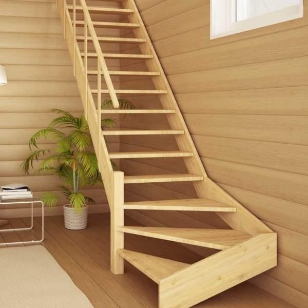 Деревянные лестницы в частном доме - фото в современном стиле