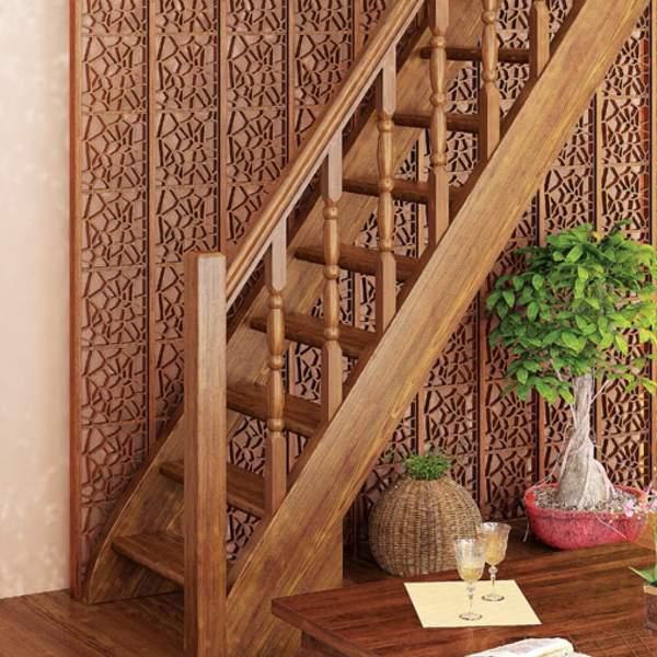 Красивый дизайн лестницы в частном доме - фото деревянной модели