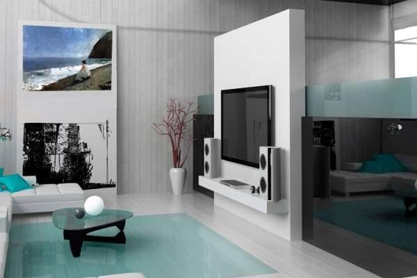 Хай-тек дизайн интерьера однокомнатной квартиры студии