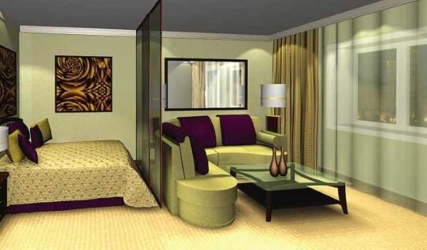 Маленькая комната - зал спальня в дизайне маленькой квартиры в хрущевке