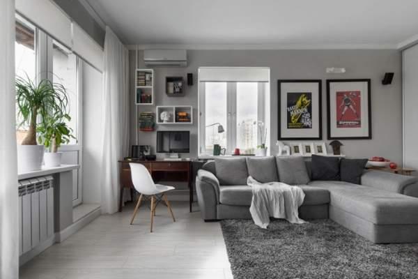 Скандинавский дизайн маленькой квартиры 30 кв м в хрущевке