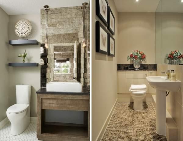 Стильный интерьер туалета - фото интересных идей