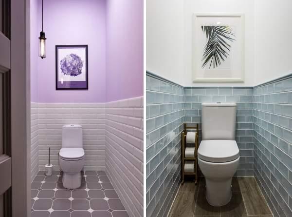 Дизайн маленького туалета в квартире без умывальника