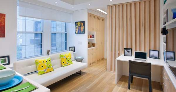 Дизайн маленьких комнат в квартире - как разделить на 2 зоны