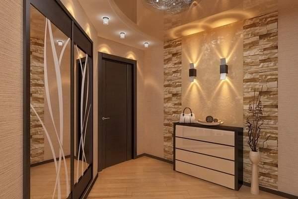 Шикарный дизайн маленькой прихожей в частном доме в стиле luxury