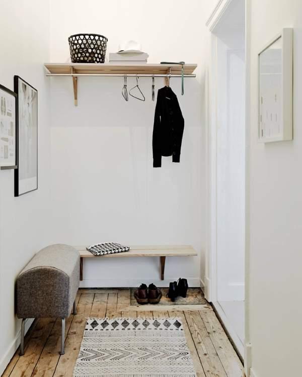Дизайн маленькой квартиры 30 кв м - идея оформления прихожей