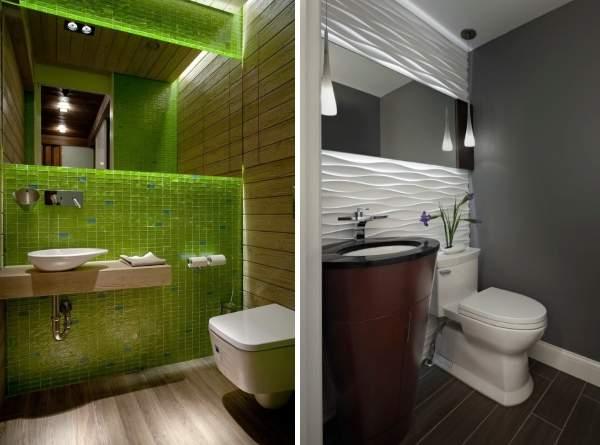 Оригинальный дизайн туалета в современном стиле