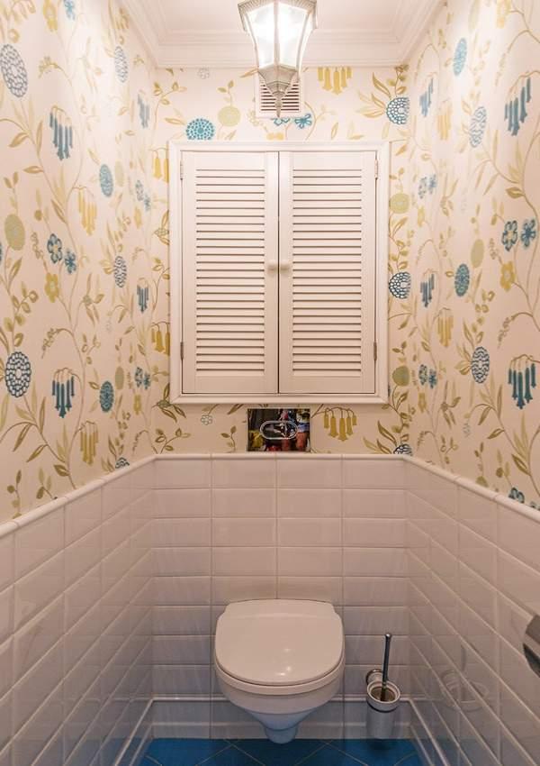 Дизайн туалета со шкафом - фото современные идеи 2017