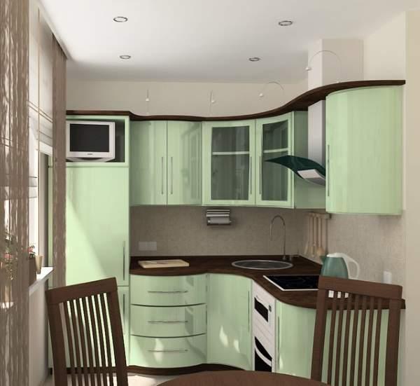 Маленькие комнаты - дизайн кухни на фото в квартире 30 кв м