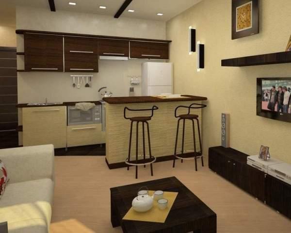 Маленькие однокомнатные квартиры студии - фото дизайн в современном стиле