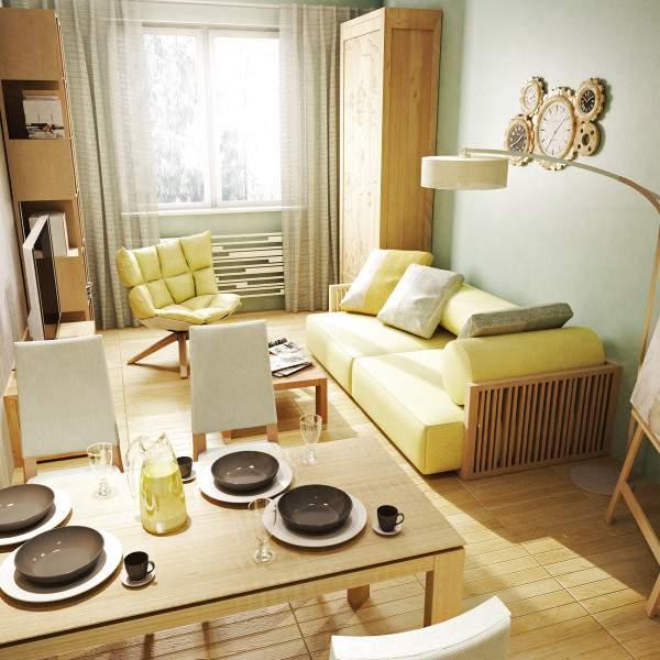 Самые красивые однокомнатные квартиры студии - дизайн фото кухни гостиной
