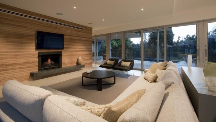 Красивый интерьер небольшого частного дома в современном стиле