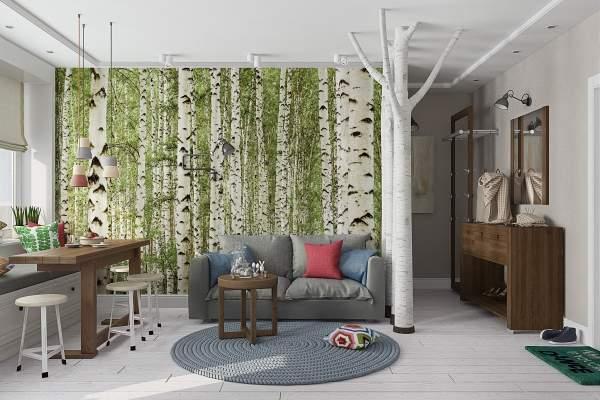 Современный дизайн двухкомнатной квартиры - необычный скандинавский стиль
