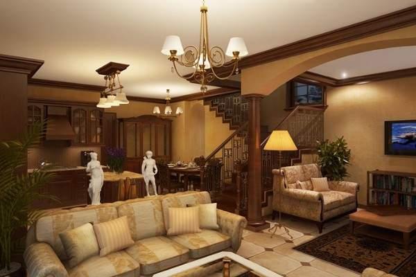 Дизайн гостиной в частном доме с одним окном большим