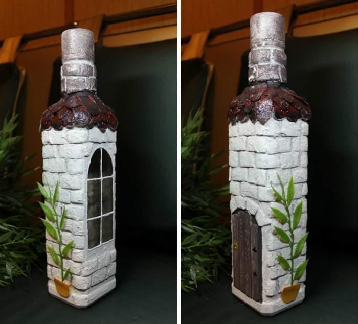 Как украсить пустую бутылку своими руками фото